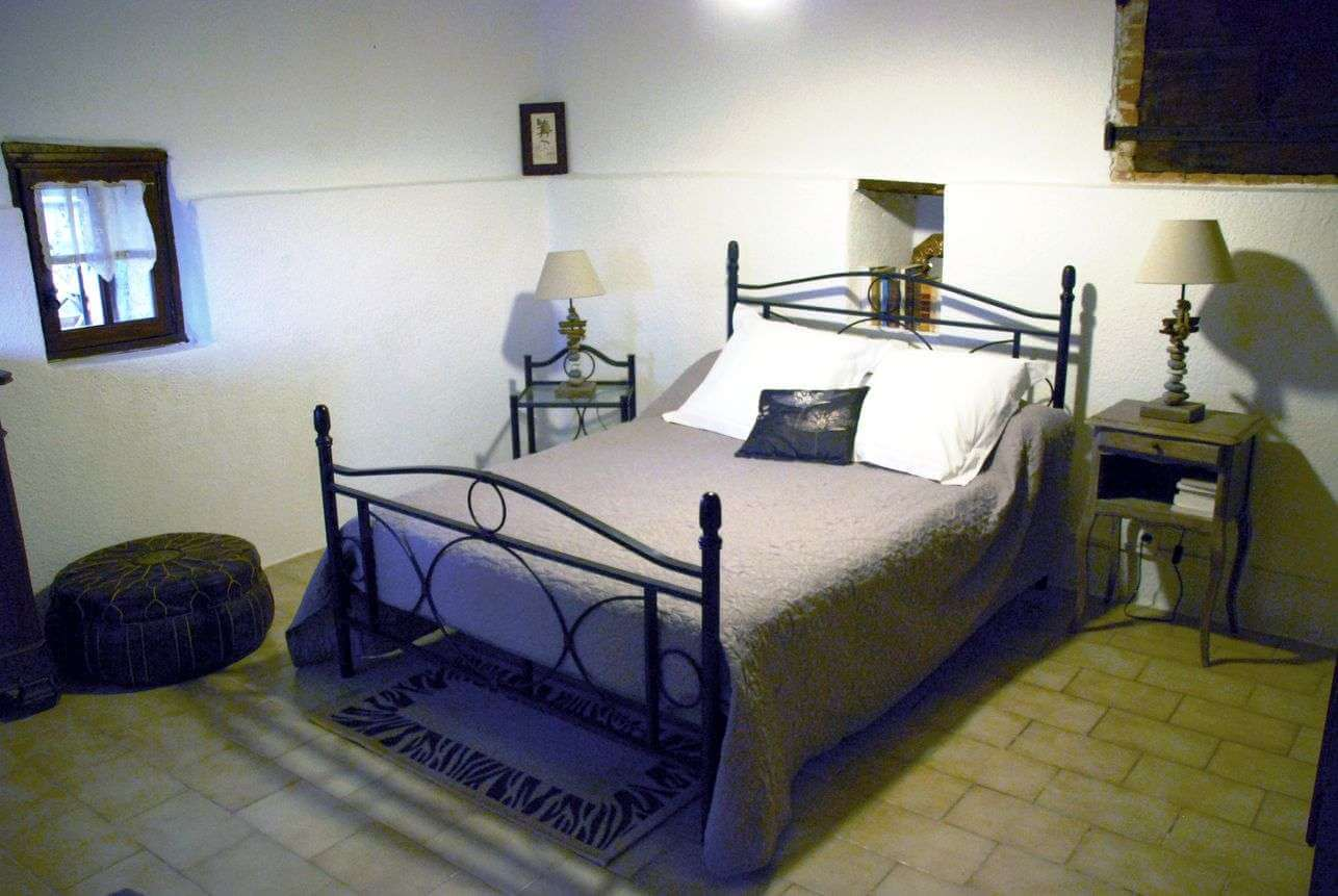 The bedroom at the ground floor (140 cm bed)