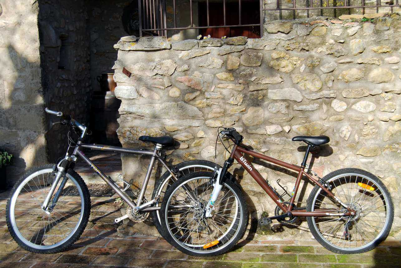 The mountain bikes of the cottage